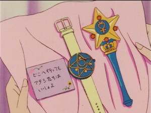 Sailor Mercury's communicator watch and Star Power Stick