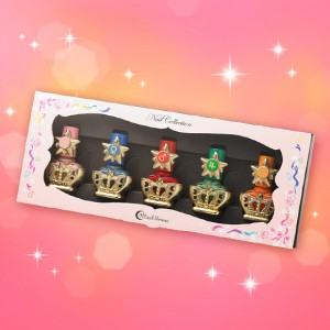 Sailor Moon nail polish bottles in box