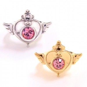Sailor Moon rings - Crisis Moon Compact