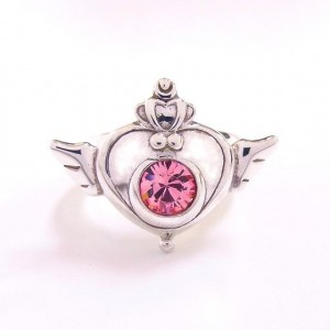 Sailor Moon silver ring - Crisis Moon Compact