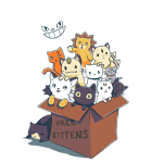 TeeFury - Free Kitten - Featuring Artemis, Luna and Diana