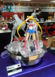 Sailor Mars S. H. Figuarts figure from Bandai seen from behind