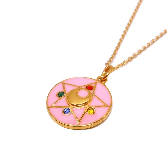 Sailor Moon Crystal Star Brooch Necklace from Bandai
