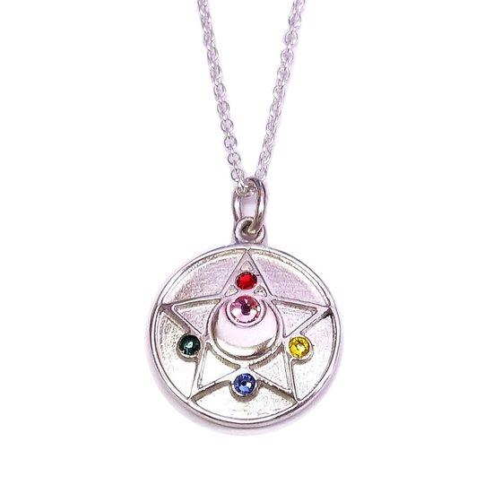 Sailor Moon Silver Crystal Star Brooch Necklace from Bandai