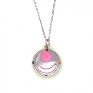 Sailor Moon Silver Transformation Brooch Necklace from Bandai