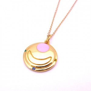 Sailor Moon Transformation Brooch Necklace from Bandai