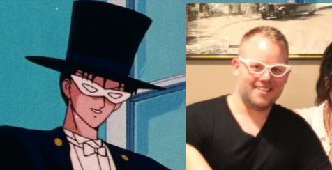 Toby Proctor, the voice of Tuxedo Mask