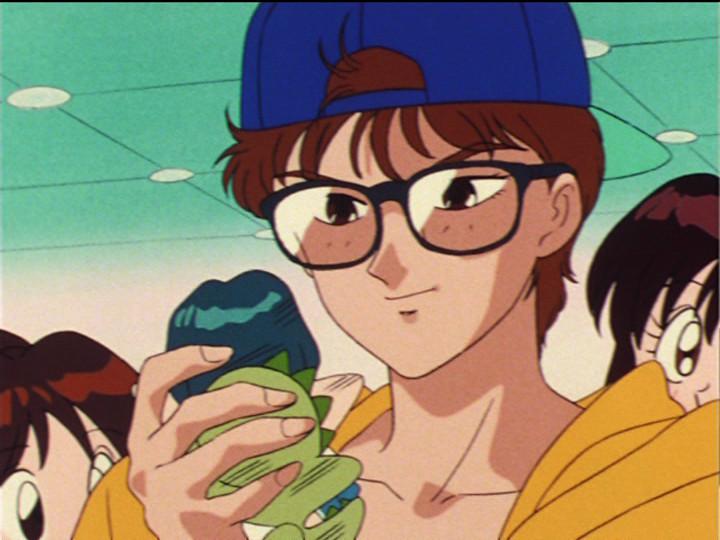Game Machine Joe with a Sailor Mercury Doll