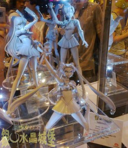 Sailor Moon, Mars and Jupiter Legend Studio prototype figures