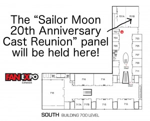 Sailor Moon panel location Fan Expo 2013
