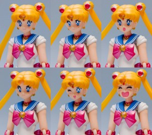 Bandai's Sailor Moon S. H. Figuarts figure - All faces