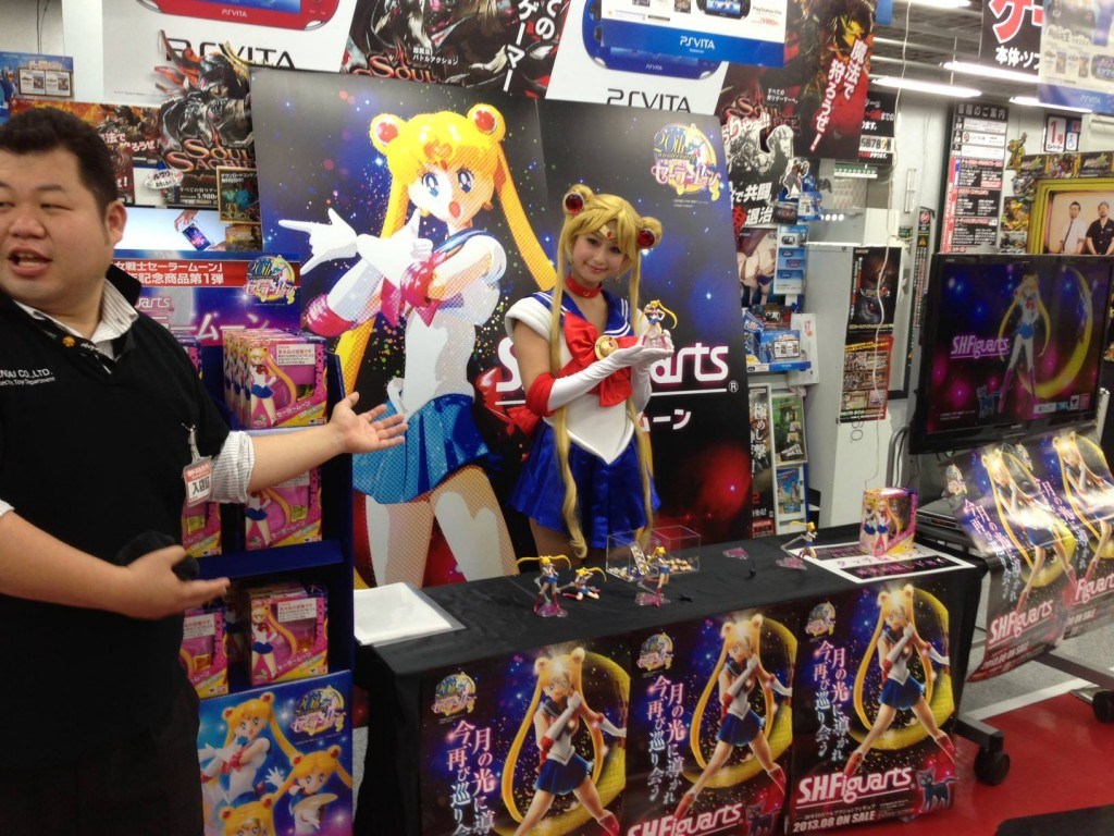 Bandai's Sailor Moon S. H. Figuarts figure booth