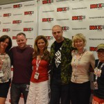 Linda Ballantyne (Sailor Moon) Toby Proctor (Tuxedo Mask) Katie Griffin (Sailor Mars) Adam Gardner (Sailor Moon News web master) Susan Roman (Sailor Jupiter) and John Stocker (voice director)