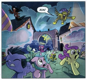 Sailor Pluto in the My Little Pony: Friendship is Magic comic book