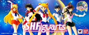 Sailor Venus, Mars, Moon, Mercury and Jupiter S. H. Figuarts figures from Bandai