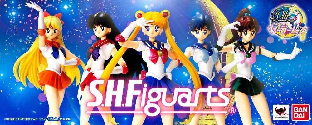 Sailor Venus, Mars, Moon, Mercury and Jupiter S. H. Figuarts figures from Bandai