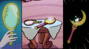 The Deep Aqua Mirror and Moon Stick in the My Little Pony: Friendship is Magic comic book