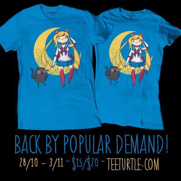 Adventure Moon Sailor Moon/Adventure Time t-shirt at Tee Turtle