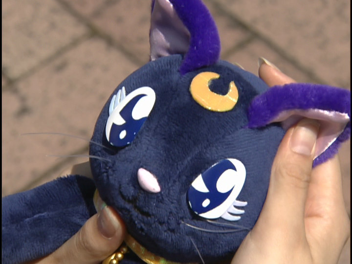 Luna plush from the live action Pretty Guardian Sailor Moon series