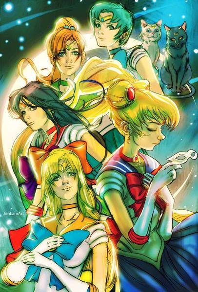 Sailor Moon 20th Anniversary Pinup by Jon Lam