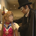 Miyuu Sawai as Sailor Moon and Jouji Shibue as Tuxedo Mask from the live action Pretty Guardian Sailor Moon series