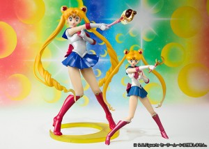 Sailor Moon Figuarts ZERO figure size comparison to the S. H. Figuarts figure