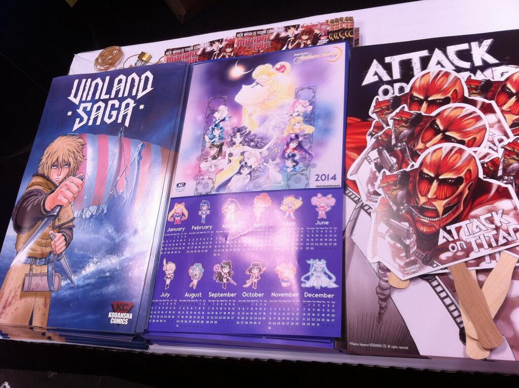 Sailor Moon poster at Kodansha Comics USA booth at NYCC 2013