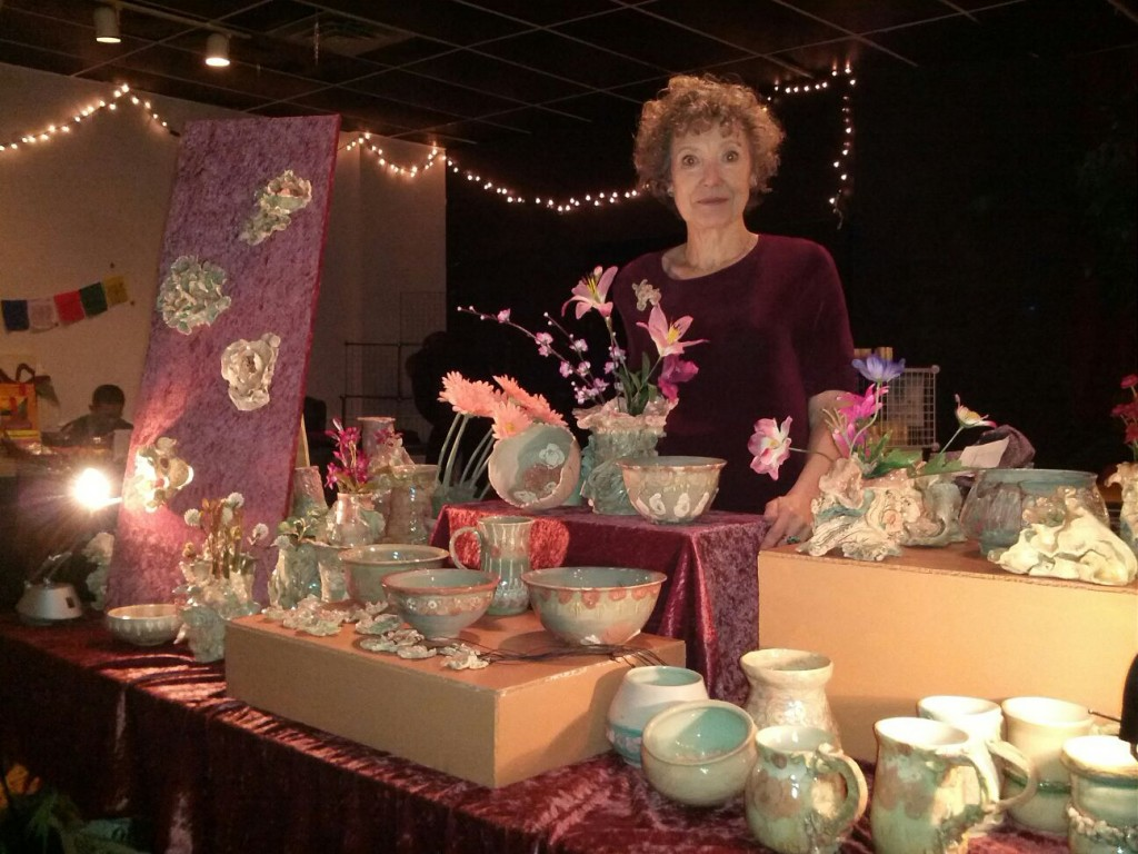 Jill Frappier and her pottery