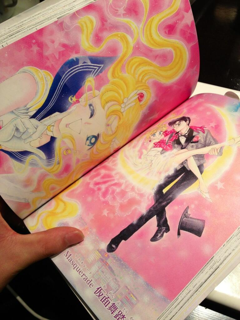 Colour pages from the 2013 release of the Sailor Moon manga