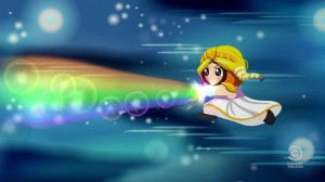 Princess Kenny shooting Rainbows