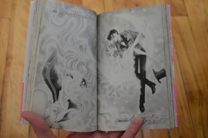 Black and white pages from the 2003 release of the Sailor Moon manga