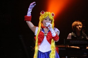 Shoko Nakagawa cosplaying as Sailor Moon