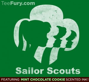 Sailor Scouts shirt at TeeFury
