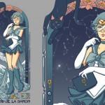 Sailor Mercury Art Nouveau shirt at teeVillain - La voix de la raison