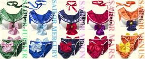 Sailor Moon costume lingerie from Peach John