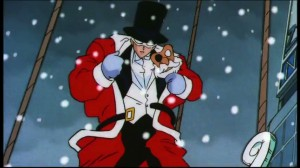 Tuxedo Mask dressed as Santa Claus - Merry Christmas and a Happy New Year - Sailor Moon S The Movie