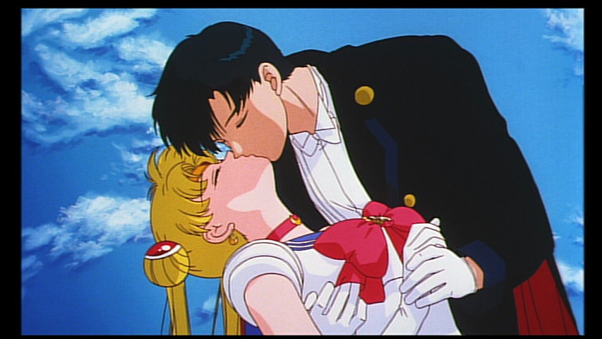 Tuxedo Mask Kisses a dead Sailor Moon in the Sailor Moon R Movie