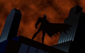 Batman on a rooftop