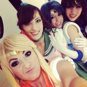 Jessica Nigri as Sailor Venus, Katie George as Sailor Jupiter, Riddle as Sailor Mercury and Monika Lee as Sailor Mars