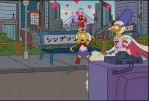 Lisa dressed as Sailor Moon in The Simpsons