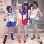 Riddle as Sailor Mercury, Jessica Nigri as Sailor Venus, Monika Lee as Sailor Mars and Katie George as Sailor Jupiter