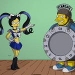 Sailor Moon reference in The Simpsons - Kumiko as a Sailor Senshi and Comic Book Guy as The Stargate