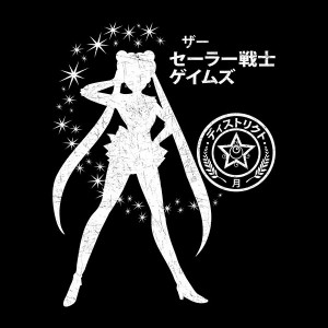 The Senshi Games Sailor Moon/Hunger Games shirt at Zebra Tees