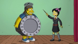 Sailor Moon reference in The Simpsons - Comic Book Guy dressed as The Stargate and Kumiko dressed as a Wizard from Hogwarts from Harry Potter