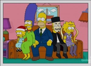 The Simpsons family photo with Lisa as a Sailor Moon character
