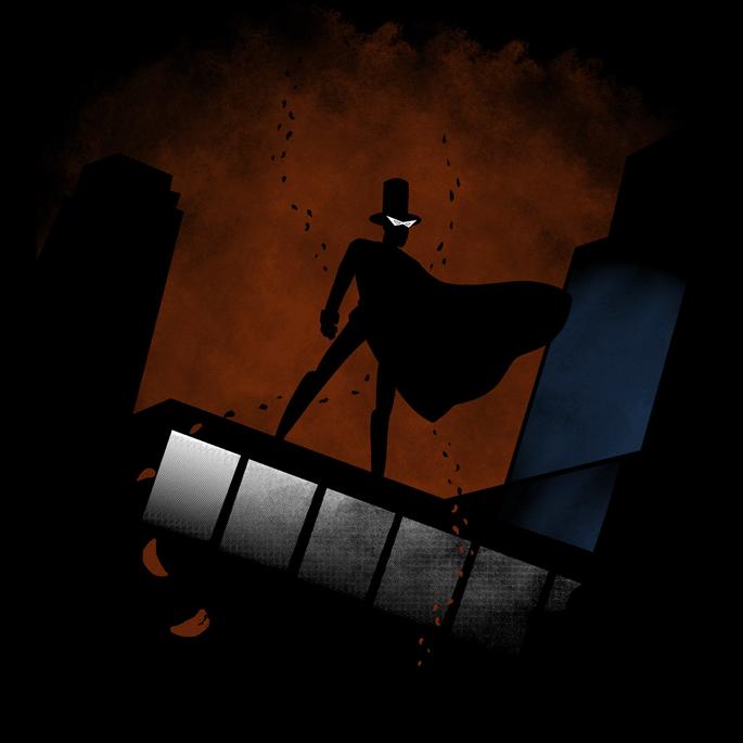 """Tuxedo Returns"" Batman/Tuxedo Mask shirt at ShirtPunch"