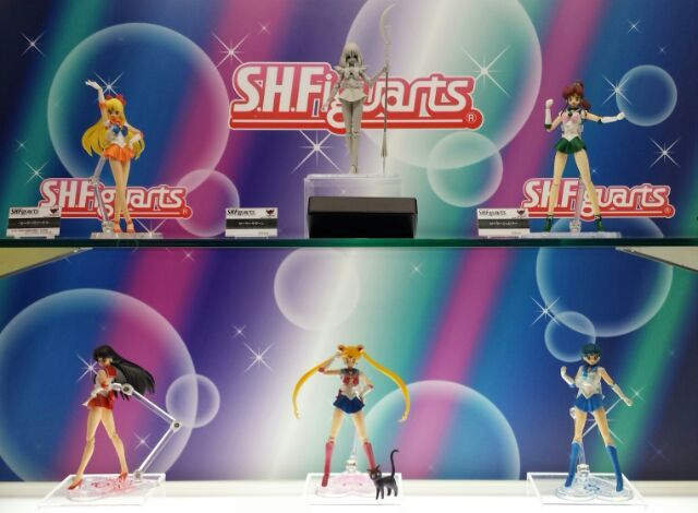 Sailor Saturn S. H. Figuarts Prototype along with Sailor Venus, Jupiter, Mars, Moon and Mercury