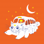 Sailor Vehicle - Artemis as the Cat Bus with Sailor V - Shirt available at Arteesel