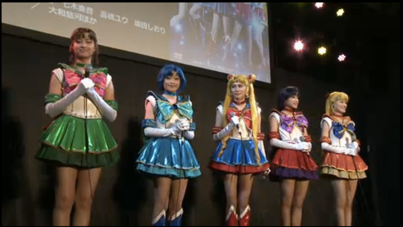 The cast of Sailor Moon Petite Étrangère
