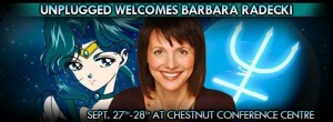 Barbara Radecki, the voice of Sailor Neptune, at Unplugged Expo
